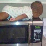 Baby PLANKS on a Microwave