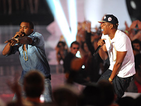 Jay-Z & Kanye West Performs Otis Live At The VMA's (Video)