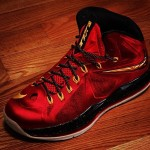 Nike Lebron X (Miami Heat) (Red,Black & Gold)