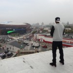 Jay-Z Looks At The Barclays Center From His Old Stash Spot (560 State Street) (Photo)