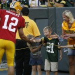 Packers QB Aaron Rodgers Makes A Young Cheesehead's Season (Photo)