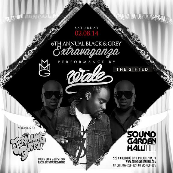 6th Annual Black & Grey Extravaganza on 2/814 with Performances by Wale & Sounds by Jermaine Dupri