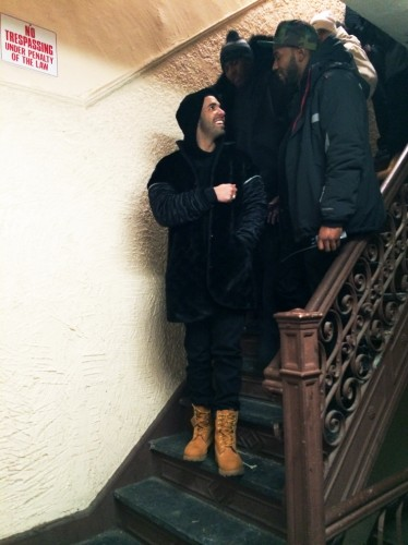 Drake Wu Tang Forever 2 374x500 Drake & A$AP Rocky In Harlem For Wu Tang Forever (Remix) Video Shoot