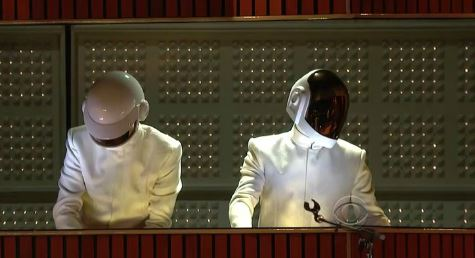 daftpunkpharrelliveargrammys Daft Punk, Pharrell, Nile Rodgers & Stevie Wonder – Get Lucky (Live At The GRAMMYs) (Video)