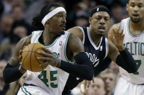 Gerald Wallace Throws Down a Nice Dunk over Kevin Garnett (Video)