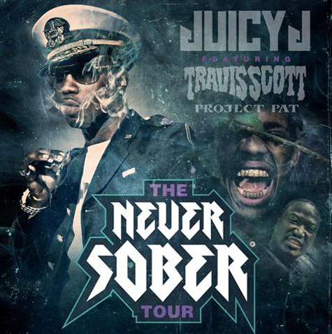 j5ZLor5 Juicy J Announces 'Never Sober' Tour With Travi$ Scott & Project Pat
