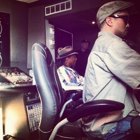 n1 Pusha T Begins His Begins 20 Day Studio Session With The Neptunes (Photos)