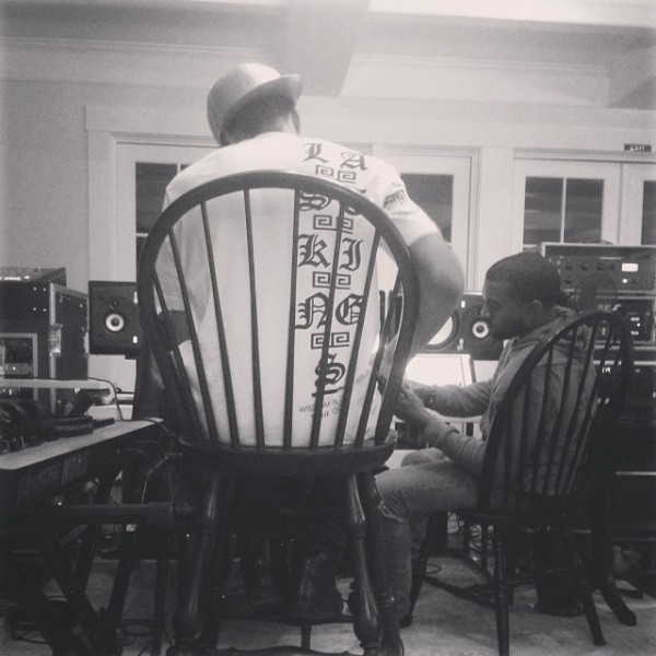 tygakanyewest 600x600 Studio Sessions: Tyga & Kanye West (Photo)