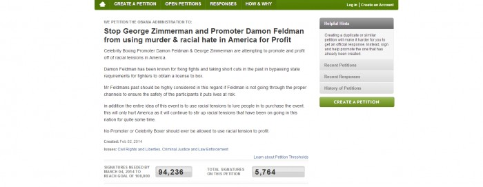 Untitled 1 Petition Calls To Stop George Zimmerman Boxing Match