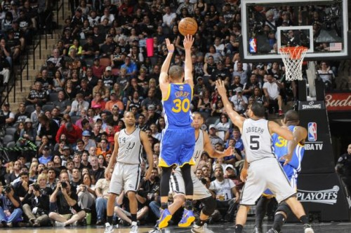 hi res 168208067 stephen curry of the golden state warriors shoots a crop north 500x333 Change The Game: NBA Executives are Considering adding a 4 Point Line to the Game