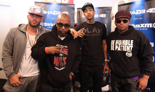 Drama Tech Nipsey Sway March 2014 DJ Drama Spits First Freestyle On Sway In The Morning (Video)