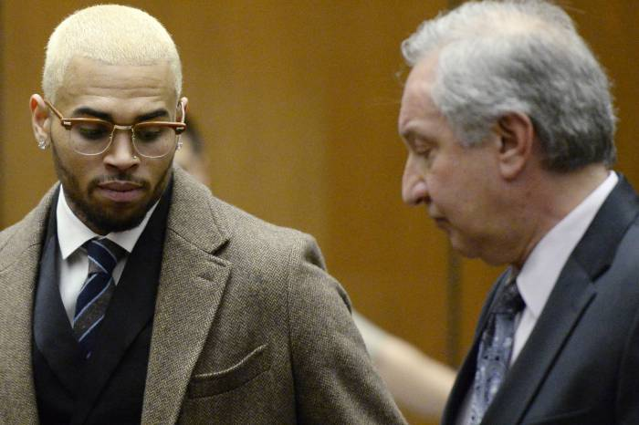 brown1 Chris Brown Returns To Jail
