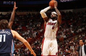 The Heat is On: Lebron Breaks Miami Heat Record Scoring 61 Against the Charlotte Bobcats (Video)