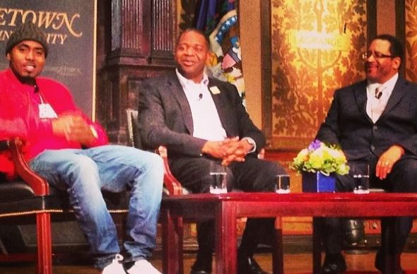 nasericdysoninterviewinDC Watch Michael Dyson Interview Nas At Georgetown University In DC! (Video)
