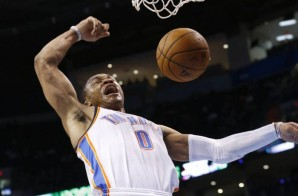 Russell Westbrook Soars for a Tomahawk Dunk against the Charlotte Bobcats (Video)