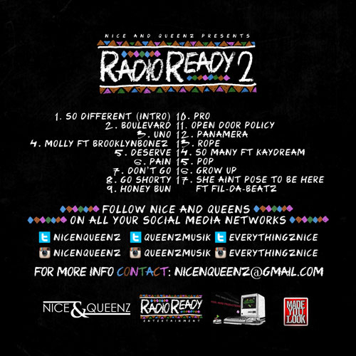 00 Nice Queenz Radio Ready 2 back large Nice & Queenz   Radio Ready 2 (Mixtape)