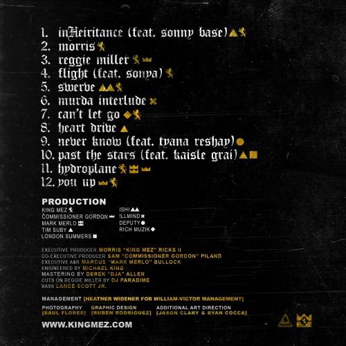 Long Live The King Back Cover Final 500x500 King Mez   Long Live The King (Album Stream)