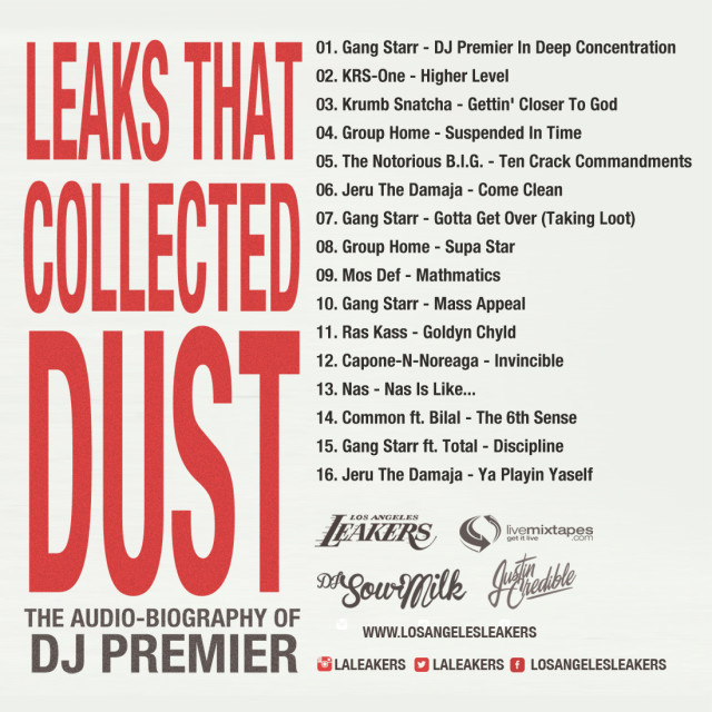 premoaudio back 640x640 LA Leakers   Leaks That Collected Dust: The Audio Biography Of DJ Premier (Mixtape)