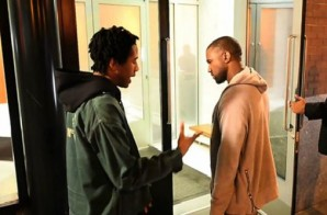 Up And Coming Emcee Simbaa Spits Some Bars For Kanye West On The Street! (Video)