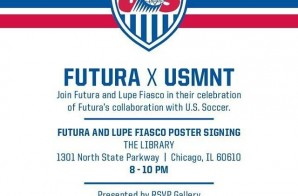 #Tonight FUTURA x @LupeFiasco World Cup Poster Signing in Chicago, IL