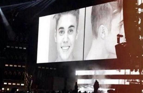Justin Bieber Mugshot Shown During Jay Beyonce Show Justin Biebers Mugshot Shown During Jay Z & Beyonces On The Run Tour (Video)