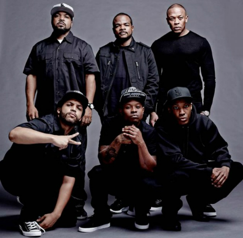 NWA Biopic Gets Release Date Cast Photo N.W.A. Biopic Gets Release Date, First Cast Photo (Photo)