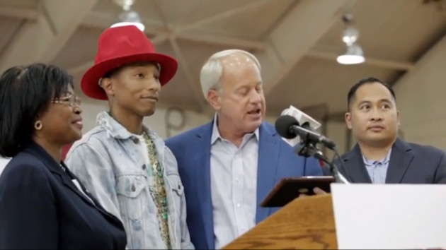 Screen Shot 2014 06 10 at 2.59.31 PM 630x354 1 Virginia Beach Gives Pharrell The Key To City During His From One Hand To Another Initiative Ceremony (Video)