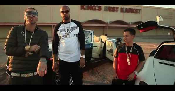 Screenshot 2014 06 05 at 2.47.11 PM 1 Riff Raff, Slim Thug & Paul Wall   How To Be The Man (Remix) (Video)
