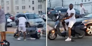 Adrien Broner Crashes His Scooter Into A Parked Car in Miami (Video)