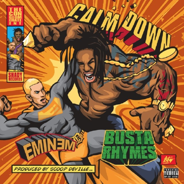 newbustaeminemcover Eminem & Busta Rhymes Set To Release Their New Scoop Deville Produced Record Calm Down Next Tuesday !!