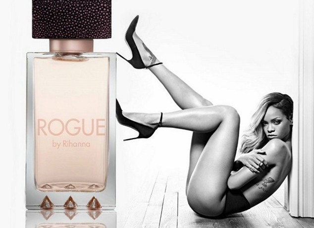 rihanna launches rogue fragrance HHS1987 2014 Rihanna Launches Rogue Fragrance