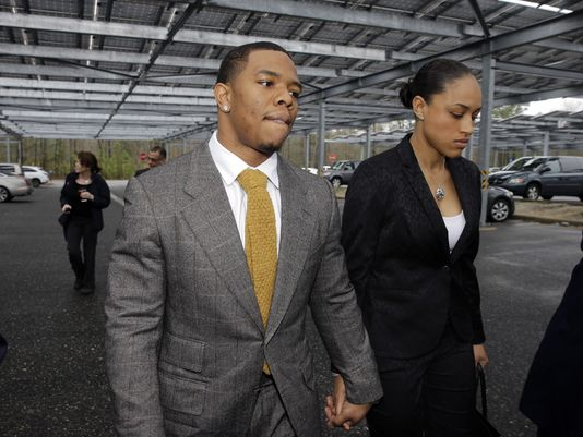 1398968954000 Rice and wife Fair or Foul: Ravens RB Ray Rice Suspended 2 Games for Violating the NFLs Personal Conduct Policy
