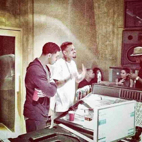 Chris_Brown_Drake_Working_On_Collab_Project
