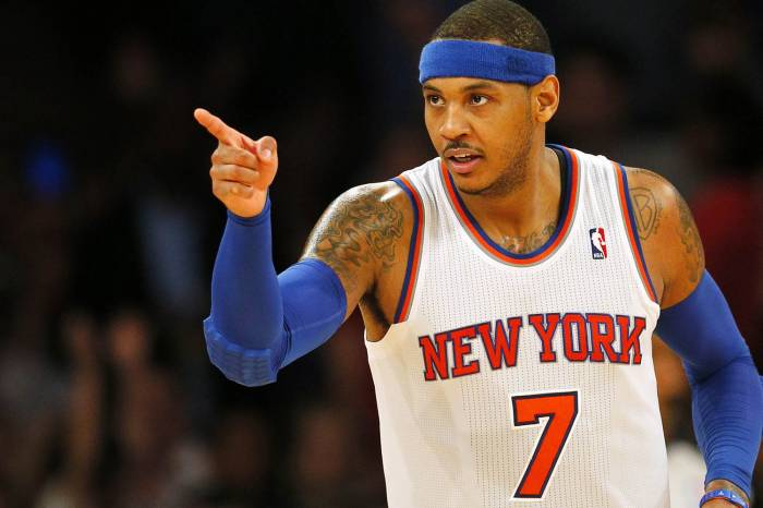 carmeloanthonyknickspoint New York State of Mind: Carmelo Anthony Returns to the Knicks