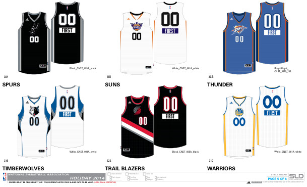 christmas5 1 NBA 2014 Christmas Jerseys Unveiled (Photos)