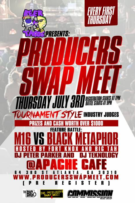 producersm Beer & Tacos Presents: The Producers Swap Meet (Featuring M16 & Black Metaphor) (Atlanta)