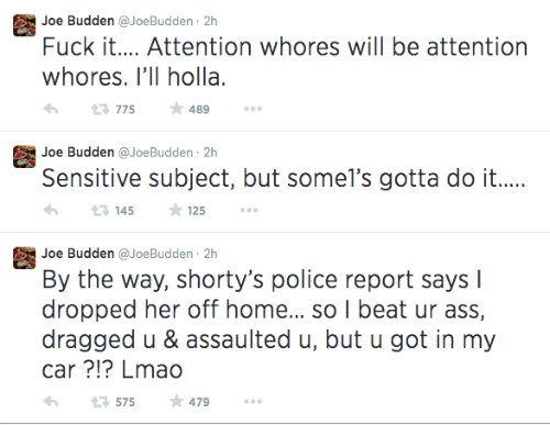 Joe Budden Tweets About Domestic Violence Joe Budden Addresses NYPD Manhunt & Domestic Violence Allegations