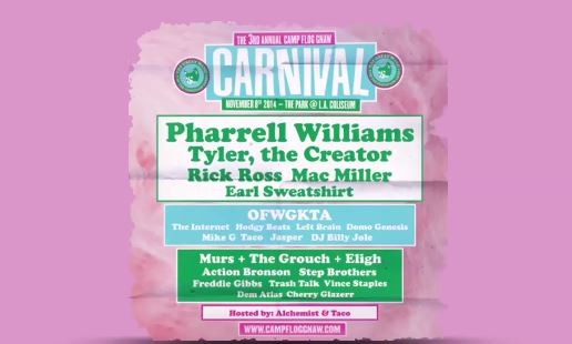 Odd Future's 2014 Camp Flog Gnaw Carnival Line-Up Revealed (Video)