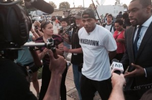 Nelly Joins Mike Brown Protesters In Ferguson, Missouri (Video)