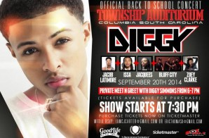 Enter To Win 2 Tickets To See Diggy Simmons, Jacob Latimore, Issa, Jacquees & More In Columbia, SC (9-20-14)