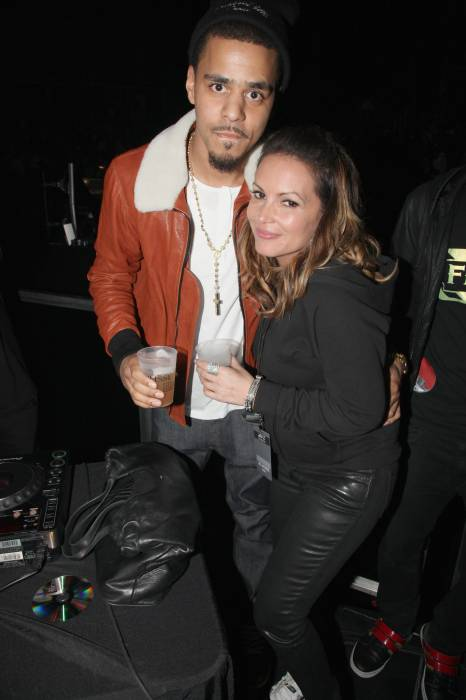 J Cole And His Mother Angie Martinez ...