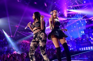 Nicki Minaj Brings Our Ariana Grande At The iHeartRadio Music Fest. (Video)