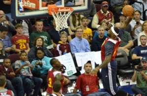 Lebron James Finishes A Tomahawk Dunk After The Assist From Kyrie Irving (Video)