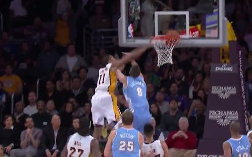 Los Angeles Lakers Forward Wesley Johnson Posterizes Danilo Gallinari With A Nasty Dunk (Video)
