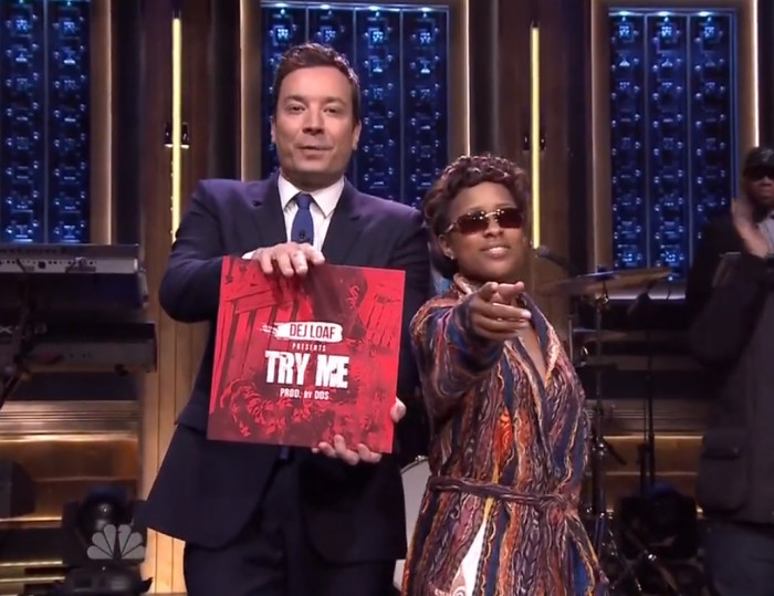 Dej loaf performs try me on fallon video celebrity buzz