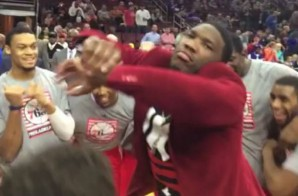 Philadelphia 76ers Rookie Joel Embiid Does The Shmoney Dance During Pre-Game Warmups (VIDEO)