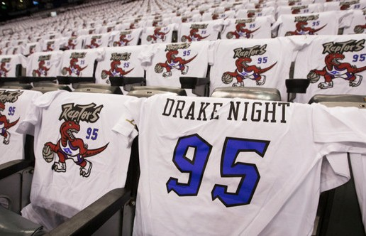 "The Toronto Raptors Host ""Drake Night"" As The Raptors Faced The Brooklyn Nets (Video)"