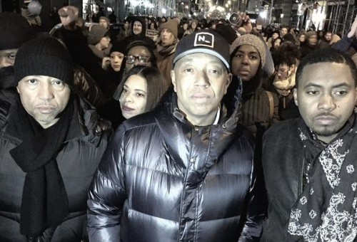 "Kevin Liles, Nas, & Russell Simmons Participate In ""Millions March NYC"" (Photos)"