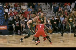 New Orleans Pelicans Guard Tyreke Evans Crosses Over Gordon Hayward For The Fancy Finish (Video)