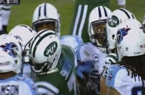 Geno Smith Gets Punched in the Helmet, Fight Breaks Out During Jets-Titans Game (Video)